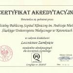 2018 - Certyfikat Akredytacyjny