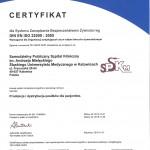 Certyfikat TUV NORD