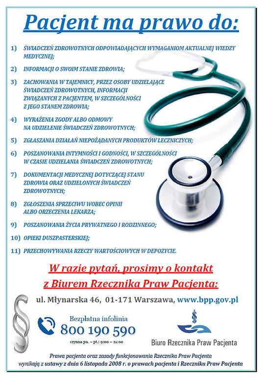 Rzecznik Praw Pacjenta - prawa pacjenta