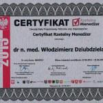 Włodzimierz Dziubdziela Rzetelni w Ochronie Zdrowia 2013