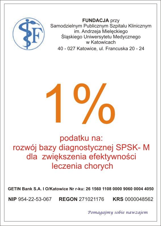 Fundacja SPSKM 1% podatku