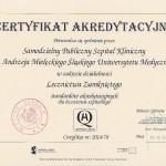 2015 - Certyfikat Akredytacyjny