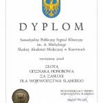 SPSKM Złota Odznaka Honorowa 2005