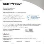 Certyfikat dla Systemu Zarządzania wg PN-EN ISO 9001:2015