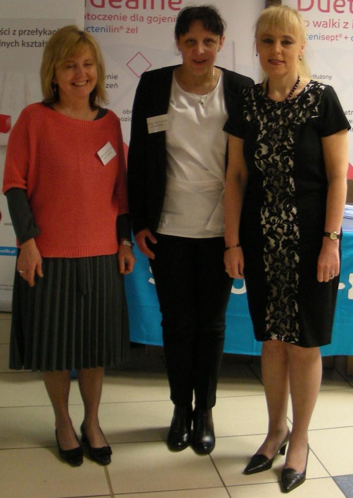 Komitet organizacyjny konferencji (od lewej strony) Agata Machnacz, Aneta Kamińska, Iwona Woźniak