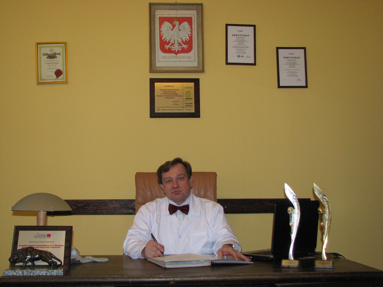 Dyrektor dr n. med. Włodzimierz Dziubdziela